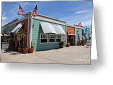 Coffee Shop At The Municipal Wharf At Santa Cruz Beach Boardwalk California 5d23833 Greeting Card by Wingsdomain Art and Photography
