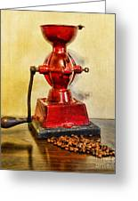 Coffee The Morning Grind Greeting Card by Paul Ward