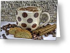 Coffee Time Greeting Card by Tracy  Hall