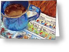 Coffee With Peanuts Greeting Card by Shelley Koopmann