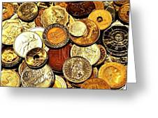 Coinage Greeting Card by Benjamin Yeager