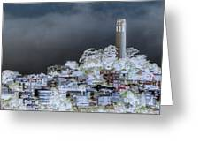 Coit Tower Surreal Greeting Card by Agrofilms Photography