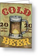 Cold Beer Greeting Card by Debbie DeWitt