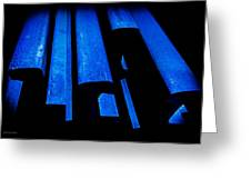 Cold Blue Steel Greeting Card by Steven Milner