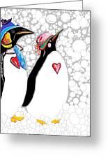 Cold Feet Warm Hearts Greeting Card by Eloise Schneider