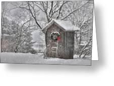 Cold Seat Greeting Card by Lori Deiter