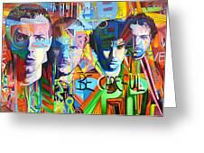 Coldplay Greeting Card by Joshua Morton