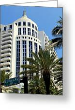 Collins Ave Greeting Card by Karen Wiles