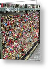 Cologne - Hohenzollern Bridge - Gypsy Locks - 02 Greeting Card by Gregory Dyer