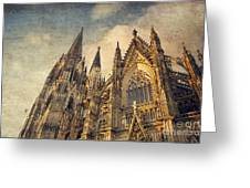 Cologne Cathedral Greeting Card by Dirk Wuestenhagen