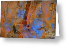Color Abstraction XVIII Greeting Card by David Gordon