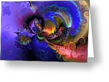 Color Gone Amok Greeting Card by Claude McCoy