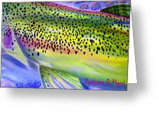 Color Me Trout Greeting Card by Anderson R Moore