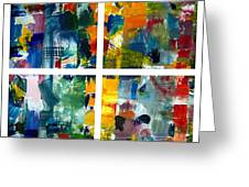 Color Relationships Collage Greeting Card by Michelle Calkins