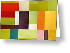 Color Study Abstract 10.0 Greeting Card by Michelle Calkins
