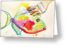 Color Transition - Triggerfish Greeting Card by Carlin Blahnik