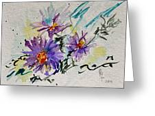Colorado Asters Greeting Card by Beverley Harper Tinsley