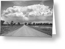 Colorado Country Road Stormin Bw Skies Greeting Card by James BO  Insogna