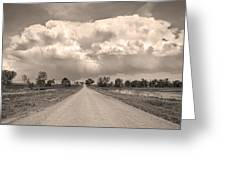 Colorado Country Road Stormin Sepia  Skies Greeting Card by James BO  Insogna