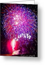 Colorado Fireworks  Greeting Card by Trisha Buchanan