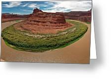 Colorado River Gooseneck Greeting Card by Adam Romanowicz