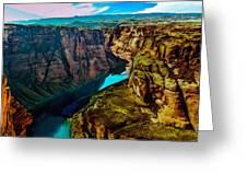 Colorado River Grand Canyon Greeting Card by Bob and Nadine Johnston