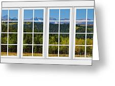 Colorado Rocky Mountains White Window Frame View Greeting Card by James BO  Insogna