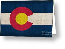 Colorado State Flag Greeting Card by Pixel Chimp