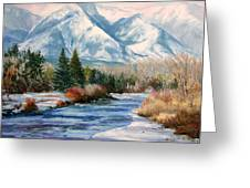 Colorado Winter On The Arkansas River Greeting Card by Frederick Hubicki