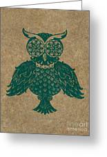 Colored Owl 4 Of 4 Greeting Card by Kyle Wood