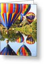 Colorful Balloons Fill The Frame Greeting Card by Carol Groenen