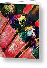 Colorful Bottles Greeting Card by Cindy Edwards