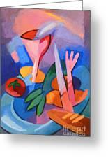 Colorful Dinner Greeting Card by Lutz Baar