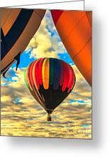 Colorful Framed Hot Air Balloon Greeting Card by Robert Bales