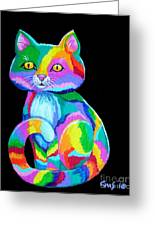 Colorful Kitten Greeting Card by Nick Gustafson
