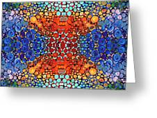 Colorful Layers - Abstract Art By Sharon Cummings Greeting Card by Sharon Cummings