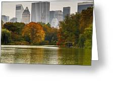 Colorful Magic In Central Park New York City Skyline Greeting Card by Silvio Ligutti