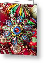 Colorful Ornaments Greeting Card by Garry Gay