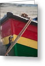 Colorful Rowing Boat Bow Close Up Greeting Card by Matthew Gibson