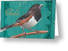 Colorful Songbirds 3 Greeting Card by Debbie DeWitt