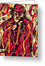 Colorful Suit Greeting Card by Rachel Scott