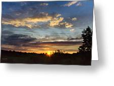 Colorful Sunset Landscape Greeting Card by Christina Rollo