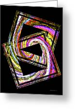 Colorful Swirl Greeting Card by Mario  Perez