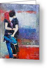 Colorful Teen Together For Ever  Greeting Card by Johane Amirault
