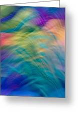 Colorful Waves Greeting Card by Sylvia Herrington