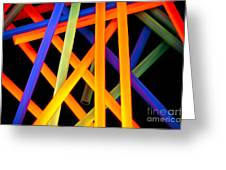 Coloring Between The Lines Greeting Card by Charles Dobbs