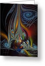 Colors In Motion-fractal Art Greeting Card by Karin Kuhlmann