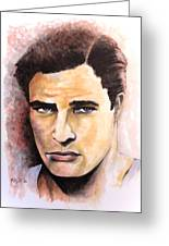 Coluda' Been A Contender - Brando Greeting Card by William Walts