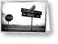 Columbian Boulevard Greeting Card by John Rizzuto