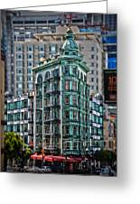 Columbus Tower In San Francisco Greeting Card by RicardMN Photography